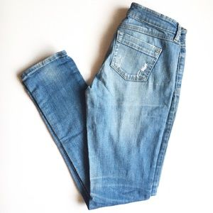 Garage mid-low rise ripped jeans in size 1